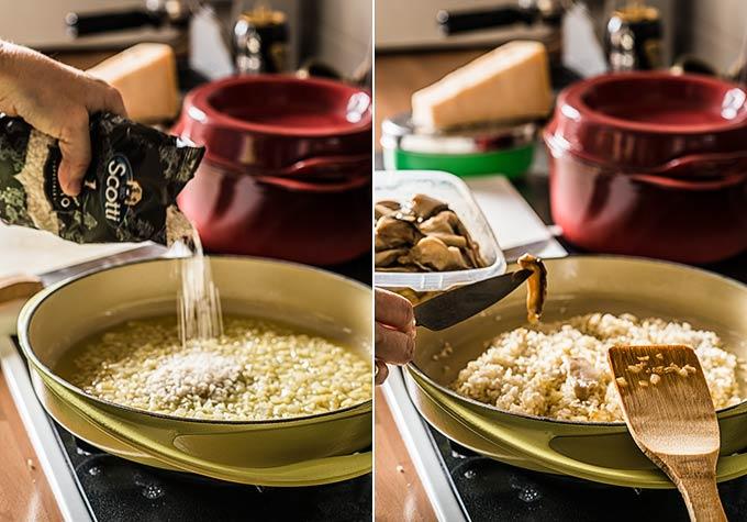 C mo hacer risotto risotto de setas y casta as recetas for Como cocinar risotto de setas