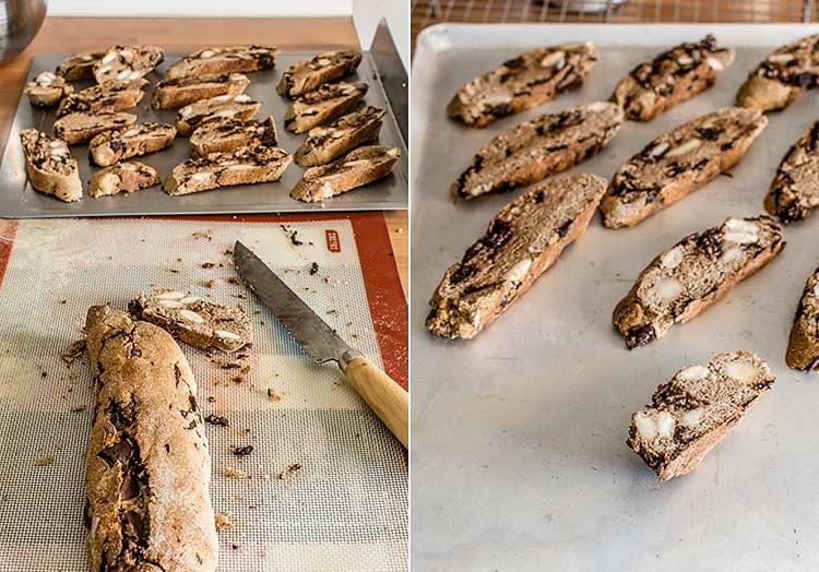 galletas de chocolate castanas