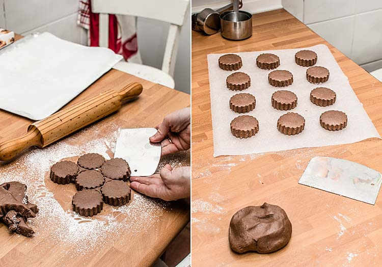 polvorones de chocolate paso a paso