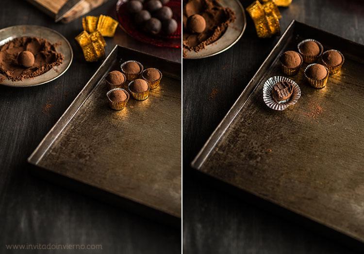 trufas de chocolate castanas by Miriam Garcia
