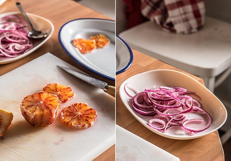 ensalada de naranja y cebolla paso a paso