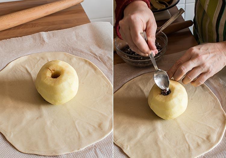 manzanas asadas paso a paso