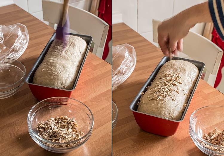 pan de molde con centeno paso a paso
