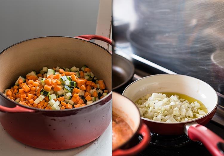 lentejas con verduras paso a paso