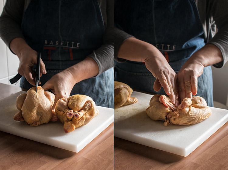 pollos picantones en ajillo