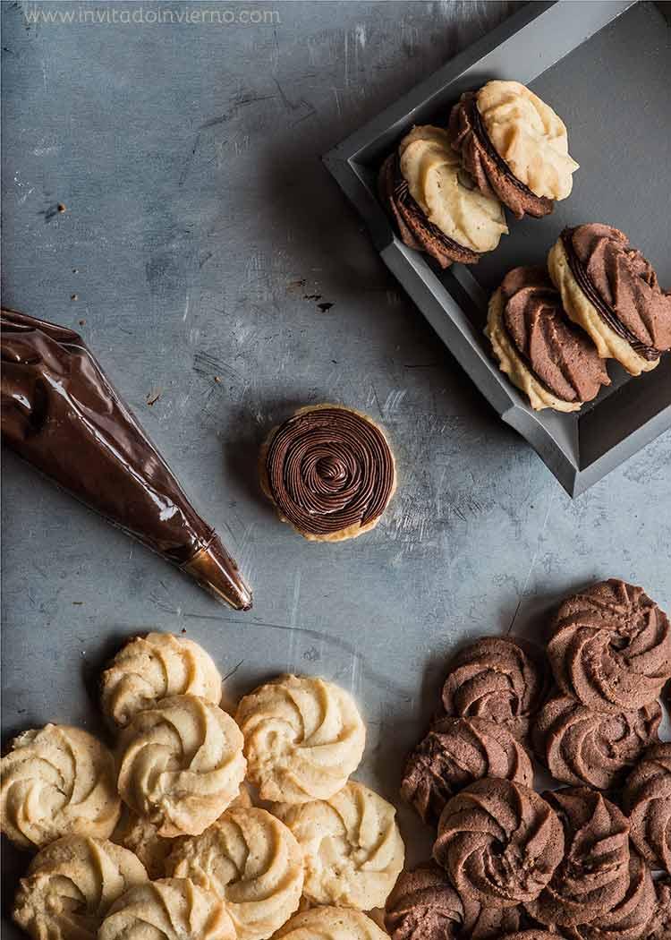 rosas de galleta de chocolate by Miriam Garcia