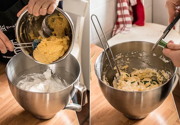 sufle de patata y queso paso a paso