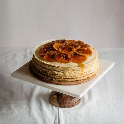 Tarta de crepes y lemon curd