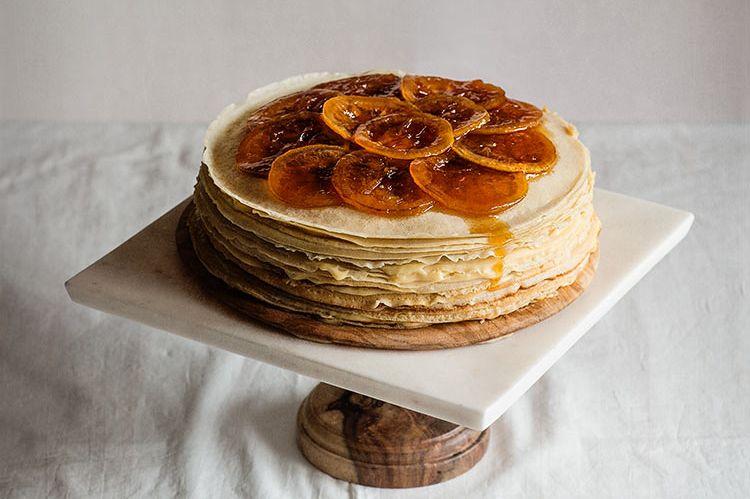 tarta de crepes lemon curd