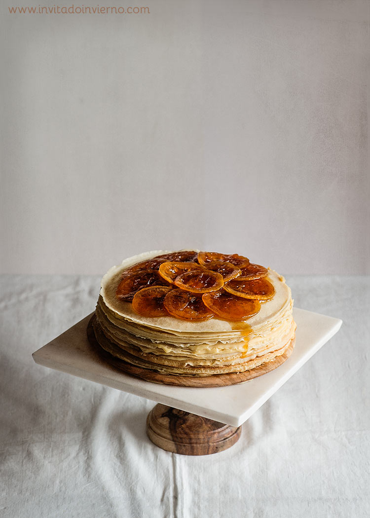 tarta de crepes lemon curd
