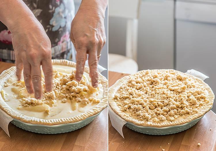 tarta de manzana streusel