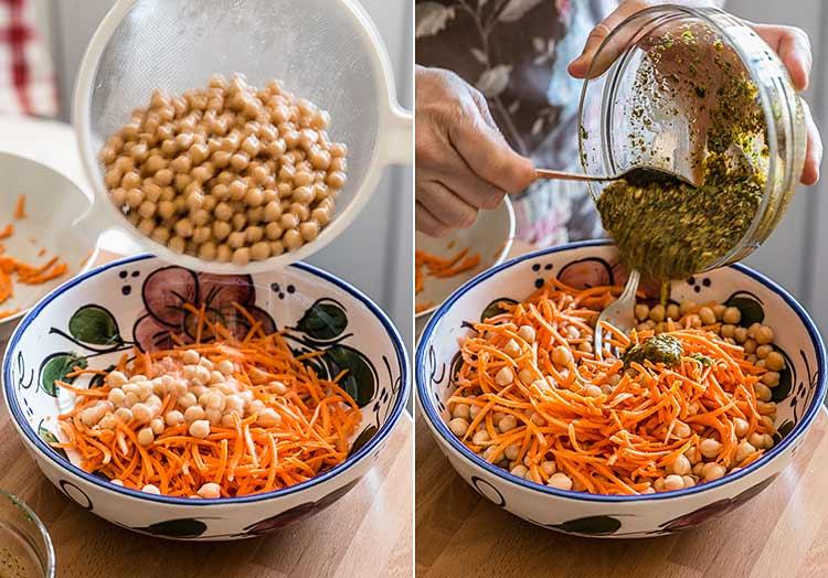 ensalada de garbanzos zanahoria