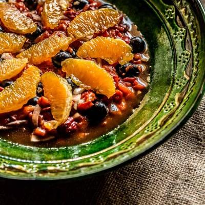 Ensalada de pimientos y naranja