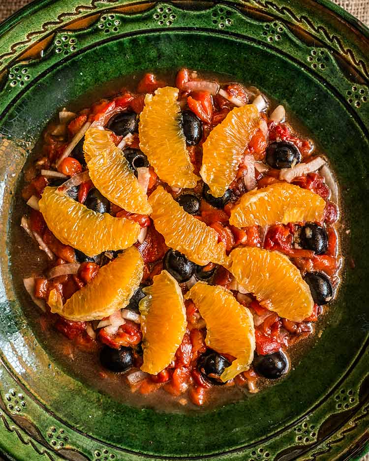 ensalada pimiento naranja