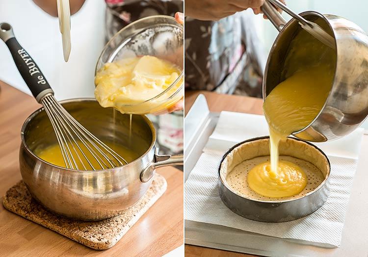 tarta de arandanos limon