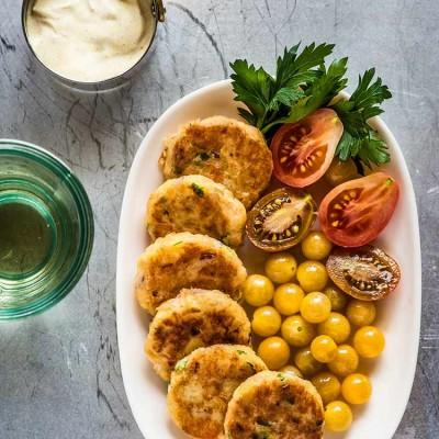 Tortitas de salmón y patata