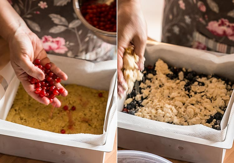 pastel streusel con frutos