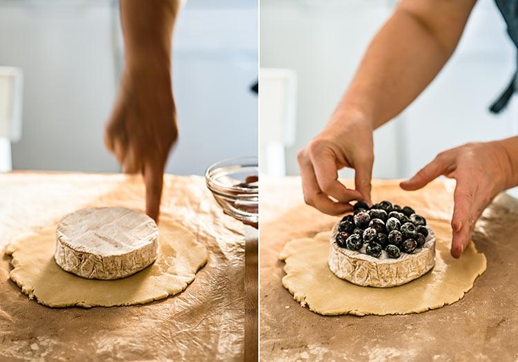 receta queso brie envuelto