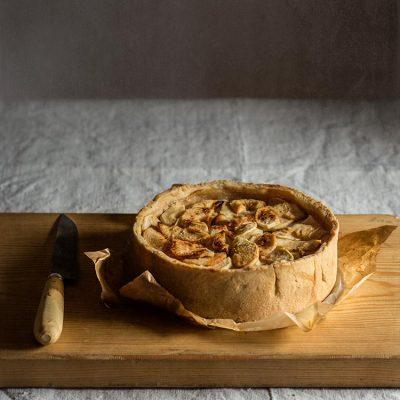 Tarta de manzana rústica