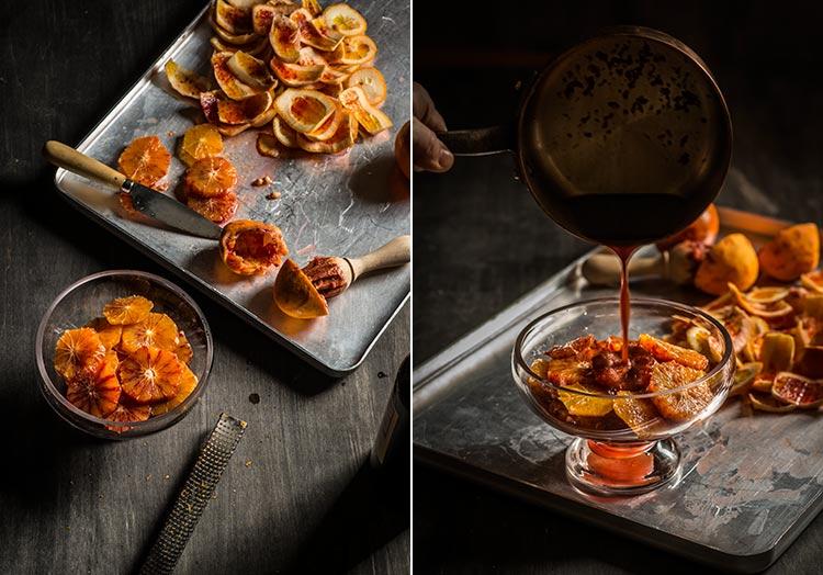 receta naranjas vino malaga