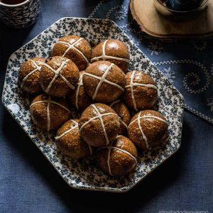 Hot cross buns de chocolate