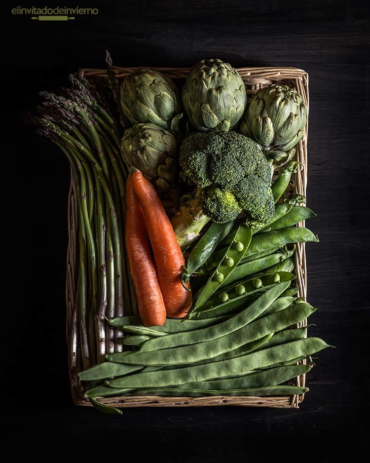 menestra verduras jamon by Miriam Garcia