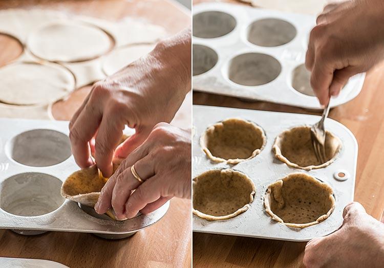 tartas manzana individuales