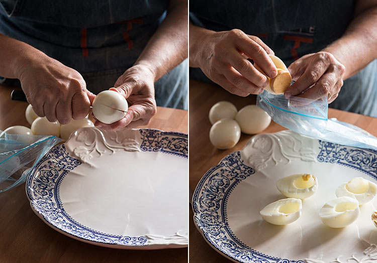 huevos rellenos salmon