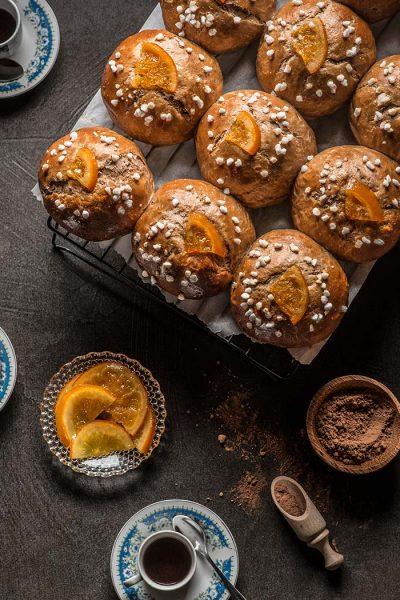 Bolas de roscón de Reyes de chocolate