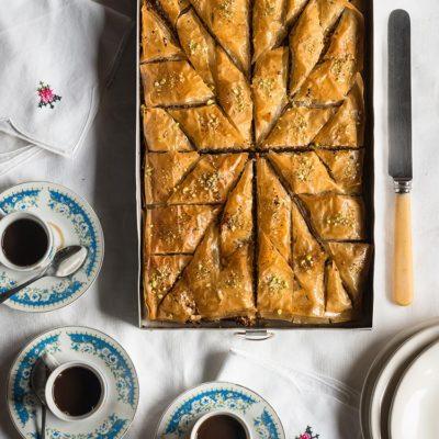 Receta de baklava, pastel de masa filo