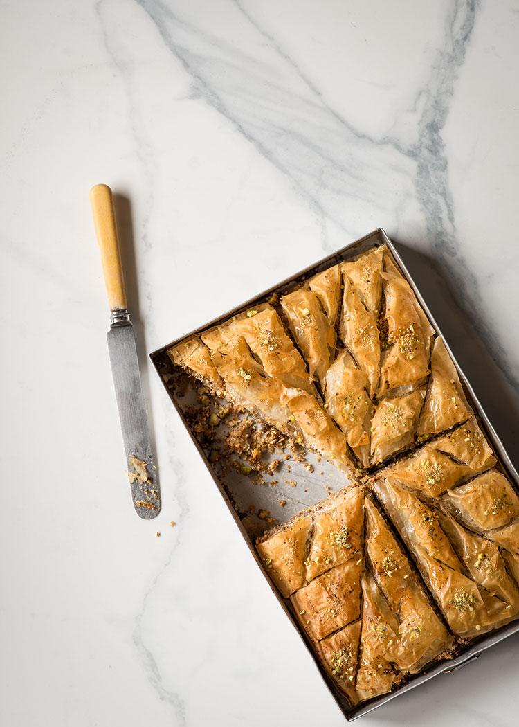 receta baklava pastel masa filo