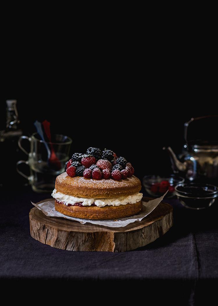 tarta victoria sponge cake