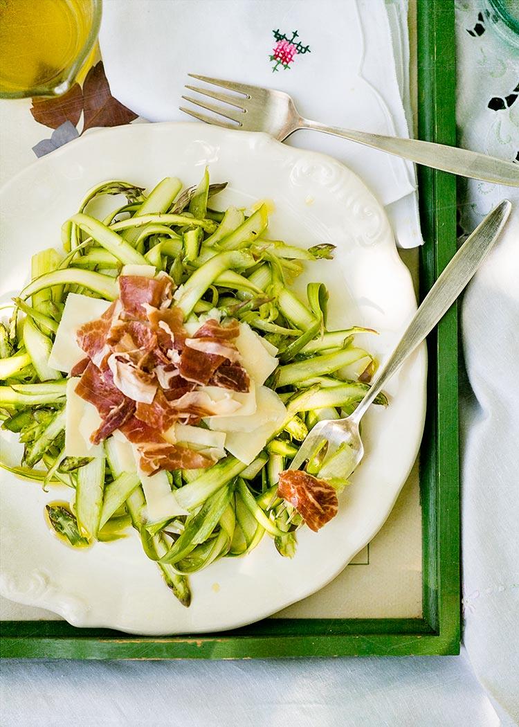 receta ensalada esparragos verdes