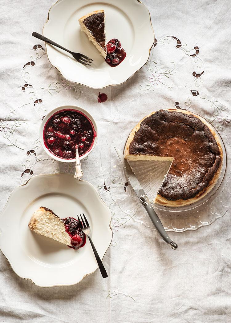 receta tarta queso la vinia