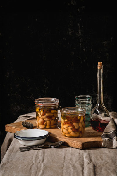 Alubias en tarro, receta italiana