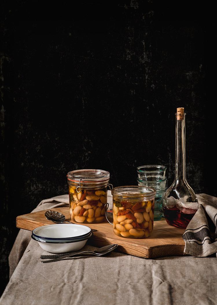 receta alubias tarro