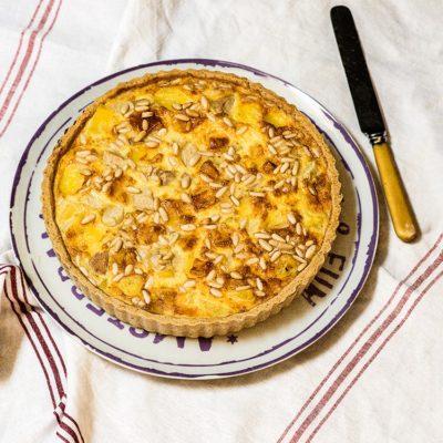 Quiche de peras y queso
