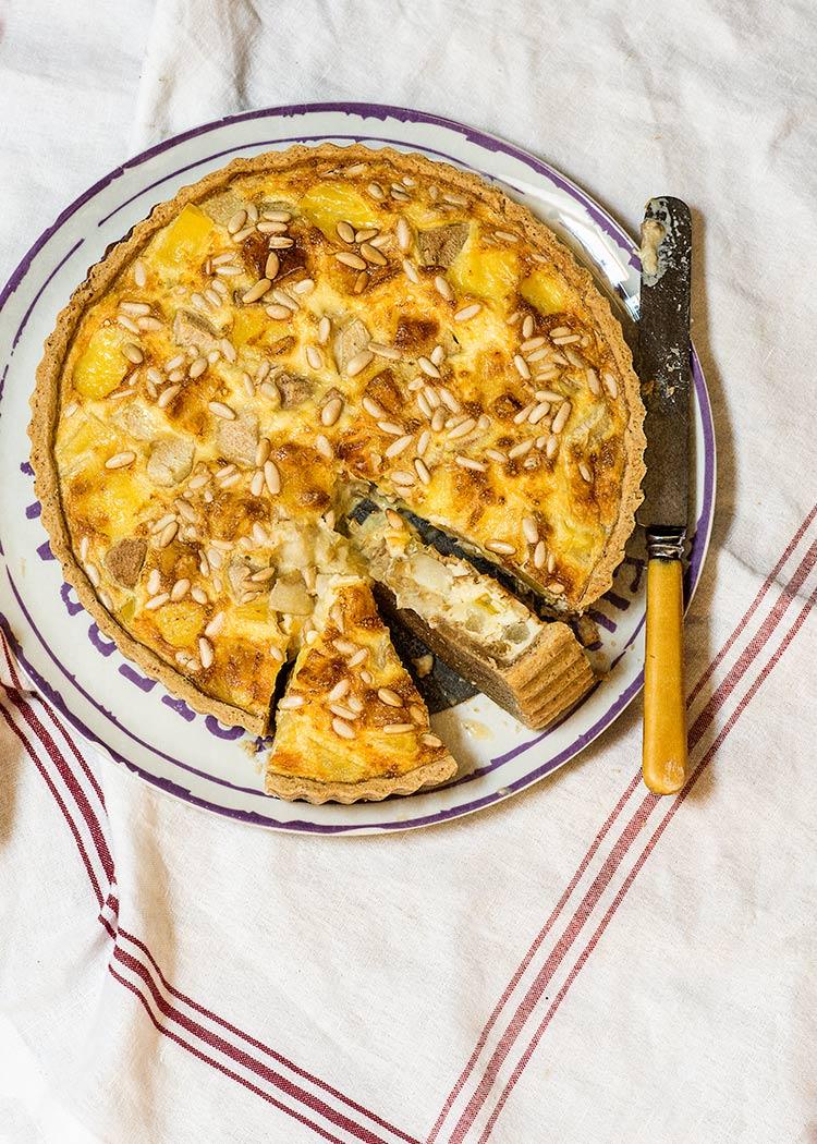 receta quiche peras queso