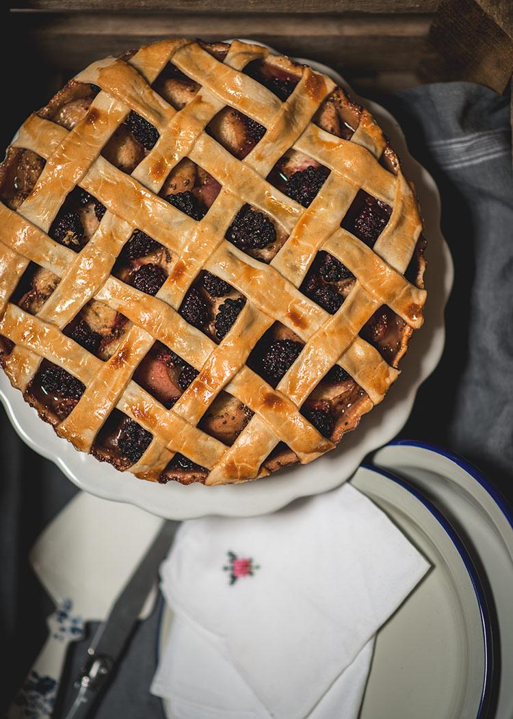 receta tarta moras nectarinas