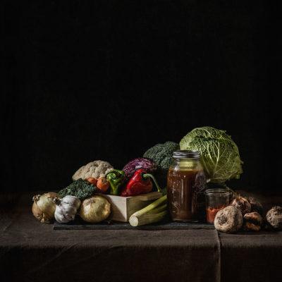 Caldo de verduras concentrado