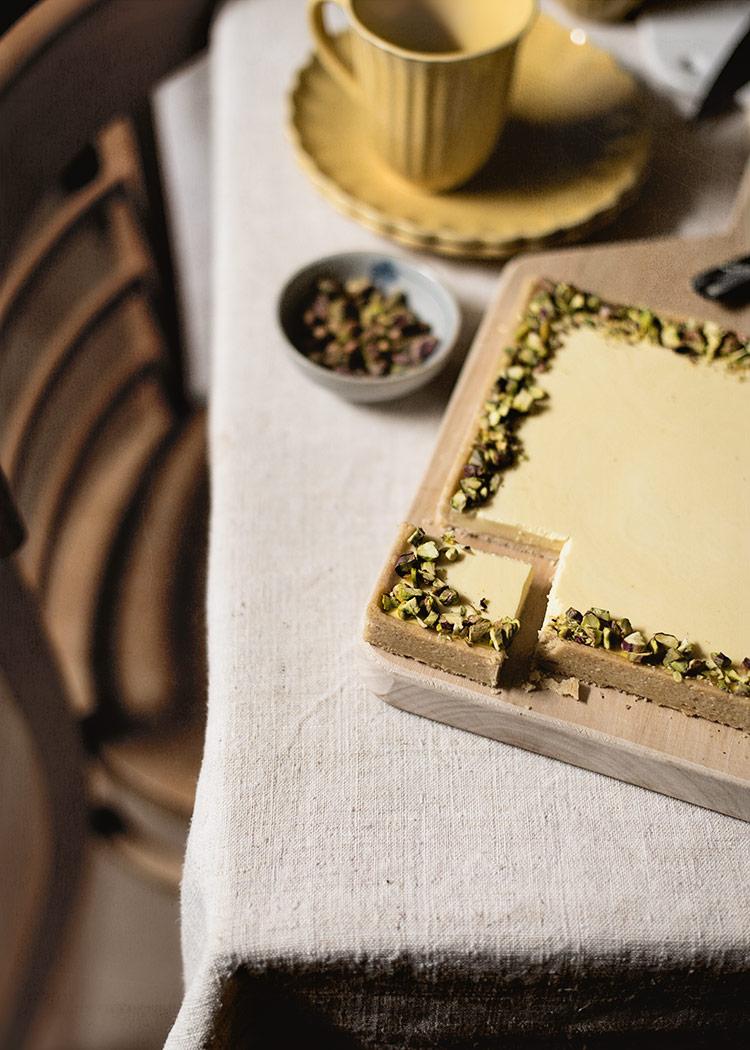 receta tarta panna cotta azafran