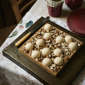 receta tarta gianduja pera