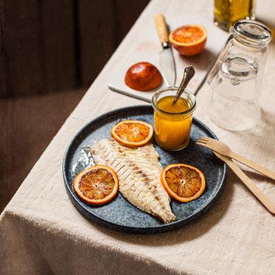 Escabeche de besugo y naranja