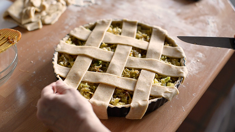 receta tarta col repollo