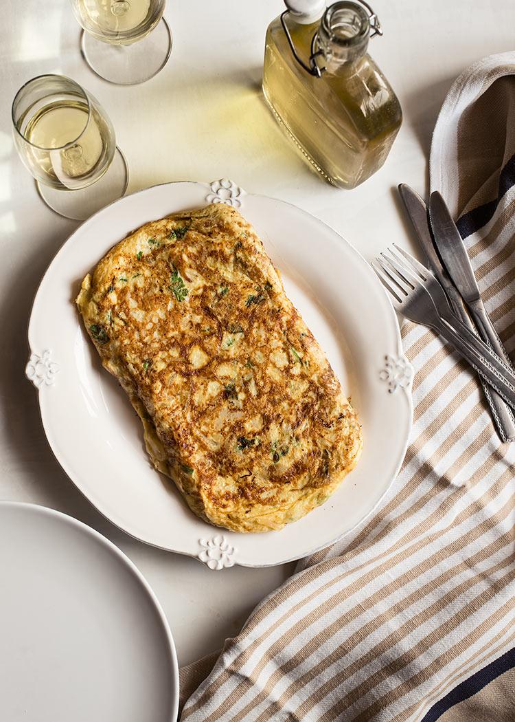 receta tortilla bacalao