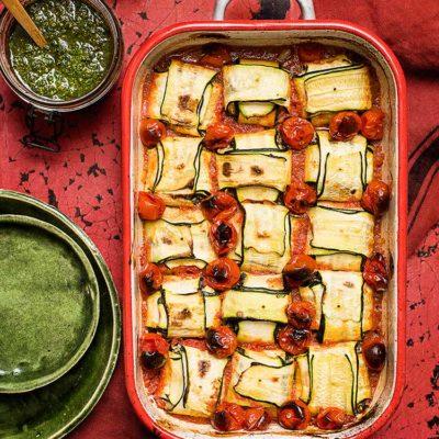 Raviolis de calabacín con queso