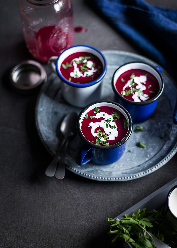 receta sopa fria sandia remolacha