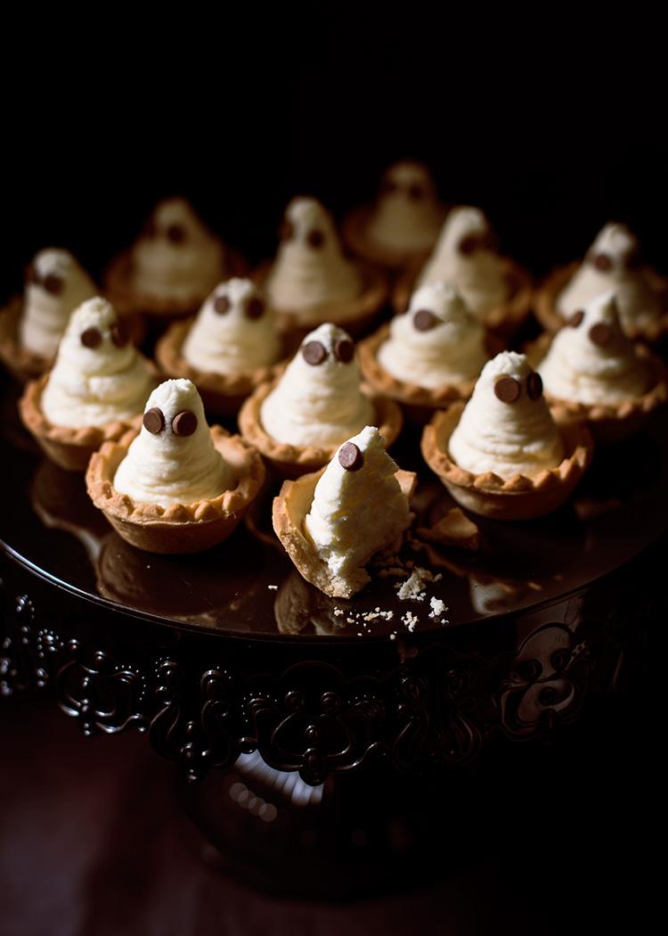 receta fantasmas tarta queso halloween
