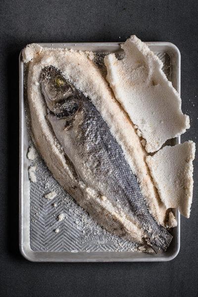 receta lubina sal