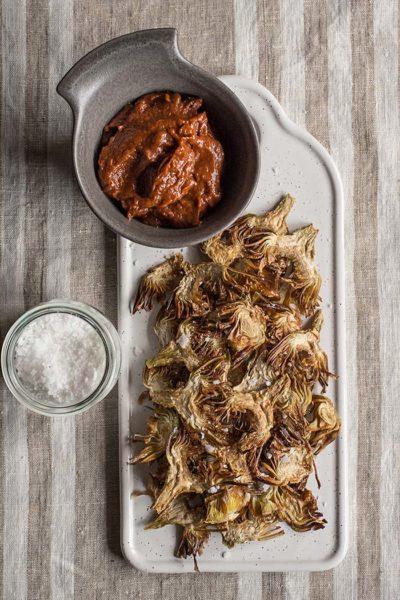 receta chips alcachofa